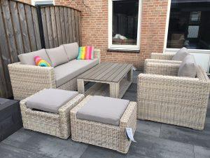 Loungeset maart, tuin zomer klaar maken