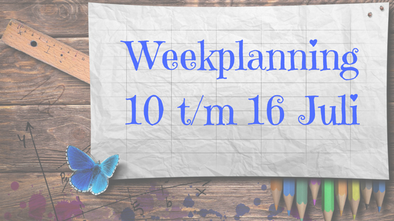 Weekplanning by Jess