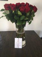 Valentijnsdag tag, bloemen