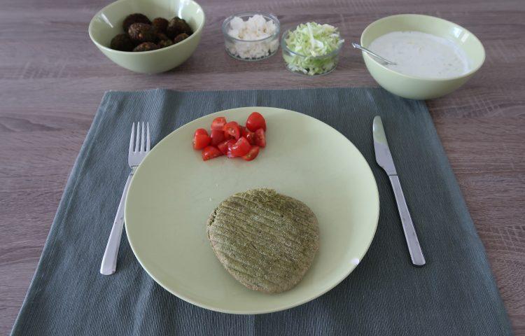 Pitabroodje falafel met tzatziki
