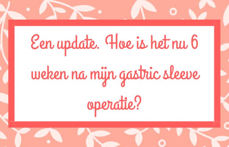 6 weken na gastric sleeve operatie