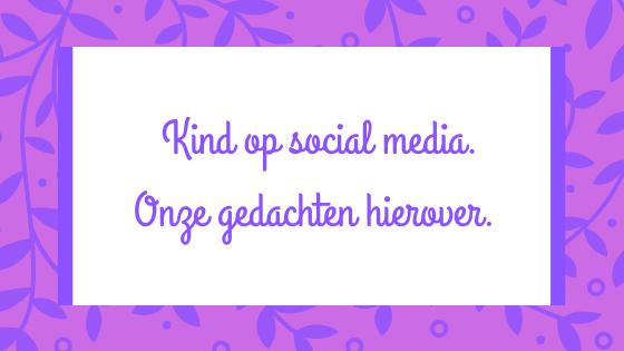Kind op social media